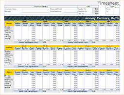 Top Time Tracking Excel Template With Additional Culinary