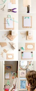 wooden frame and wooden notepad 17 diy locker decorations see more at s