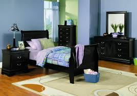 awesome bedrooms black. Bedroom. Black Wooden Bed On Cream Rug And Table Lamp Bedside Awesome Bedrooms