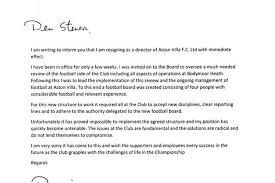 read the mervyn king and david bernstein aston villa resignation    david bernstein resignation letter