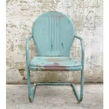 metal lawn chairs. Wonderful Metal Retro Metal Lawn Chair Teal Rustic Vintage Porch Furniture To Chairs M