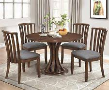 round dining table set. charming rustic 5 pc wood round dining table \u0026 grey chairs furniture set round dining table set