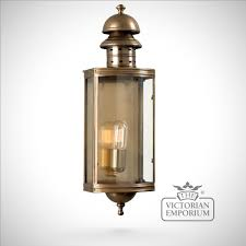 outdoor lights downing street brass wall lantern antique