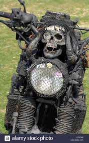 a rat bike or motorcycle designed to be scary or frightening with