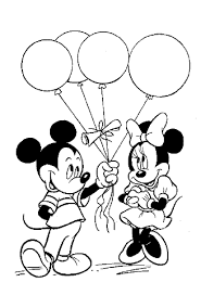 Small Picture Mickey Mouse Birthday Coloring Page