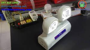 Đèn sạc chiếu sáng khẩn cấp 2 mắt Kentom KT-402