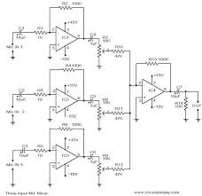 mixer circuit diagram ireleast info 3 input mic mixer circuit electronic circuits and diagram wiring circuit