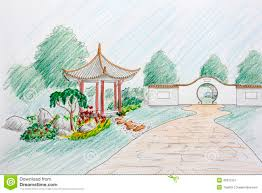 Small Picture Landscape Architect Design Chinese Garden Plan Stock Photo Image