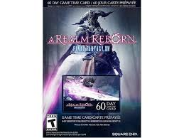 Timecard Ca Final Fantasy Xiv A Realm Reborn 60 Day Time Card With Amaray