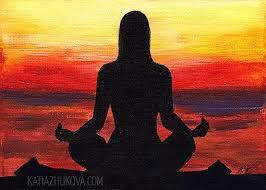 Original Acrylic Painting On Canvas \u0027Searching\u0027 Yoga Meditation At Sunset  Pinterest