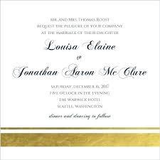 Wedding Invitation Text Template