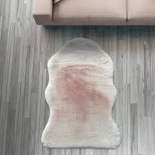 Fell Läufer Teppich Rosa 55x80 Cm Sofa Stuhl Matte H Real