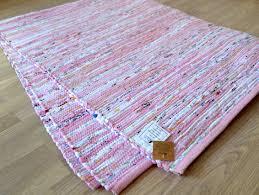 pink cotton chindi rag rug