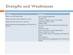 5 Strengths And Weaknesses