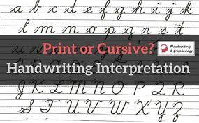 Online Cursive Chart Handwriting Interpretation Print And Cursive