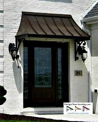 front door overhangThe Juliet Gallery  METAL AWNINGS  Projects  Gallery of Awnings
