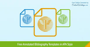 annotated bibliography templates in apa style annotated bibliography