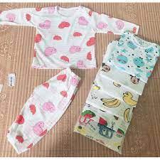 Xưởng Thanh Lý - Combo 5 bộ quần áo coton sợi tre dài tay cho bé trai-bộ đồ  dài tay cho bé gái-quần áo dài tay sơ sinh tại Thanh Hóa