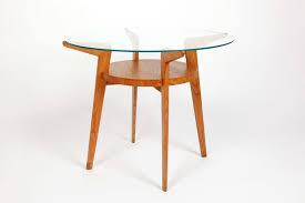 mid century wood glass coffee table 1