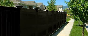 black vinyl fence panels.  Panels EBONY PRIVACY SERIES On Black Vinyl Fence Panels P