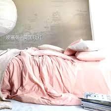 light pink bed sets bedding set solid color duvet cover soft sheets and grey comforter