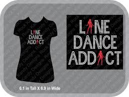 Design Your Own Bedazzled T Shirt Line Dance Addict Bling Rhinestone Tee By Rockkandydesignsco