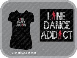 Dance Shirt Designs Line Dance Addict Bling Rhinestone Tee By Rockkandydesignsco