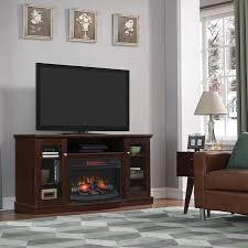 com chimneyfree walker infrared electric fireplace entertainment center in espresso kitchen dining
