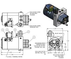 12 volt hydraulic pump electric hydraulic pump 12v 12 volt hydraulic unit specs dimensional data