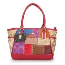 Coach Holiday Matching Stud Large Red Multi Satchels EBG