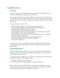 Merchandiser Resume Templates Visual Merchandising Sample Picture