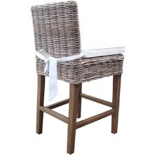 padma s plantation boca counter stool in kubu grey rattan w white fabric cushion