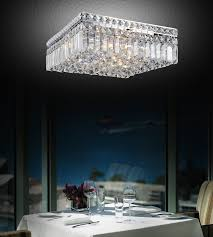 elegant square flush mount crystal chandelier brizzo lighting s 14 bossolo transitional crystal square