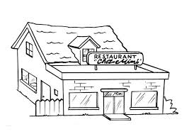 Restaurant Coloring Page Coloring Page Restaurant Img 8204