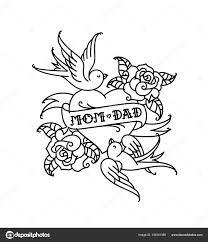 татуировки надписью мама папа два сердца цветком птица поздравление