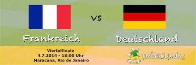 Frankreich gegen deutschland ist heute live im tv und stream zu sehen. Frankreich Deutschland Wm 2014 Viertelfinale 04 07 14