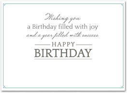 Happy Birthday Business Card Business Birthday Cards Employee Birthday Cards