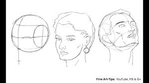 Face Perspective Chart How To Draw The Head From Any Angle Loomis Method