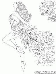 Coloriage Danses Ballerina