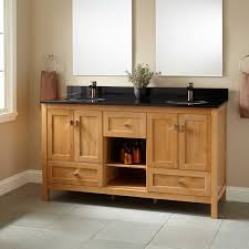 Bamboo Bathroom Sink 60 Alcott Bamboo Double Vanity For Undermount Sink Bathroom