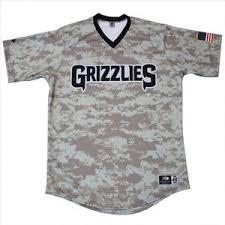Milb Camo Autographed James Fresno Jersey Size 48 Auctions 17auction Game-worn Appreciation Josh - Military Grizzlies