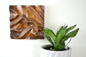 diy power carving wood wall art