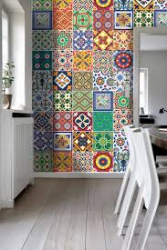 Multi Coloured Kitchen Tiles Wall Art Tiles Decor Mexican Talavera Special Stickers Pack With