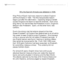 why the spanish armada was defeated in a level english  document image preview