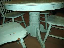 distressed white round dining table with leaf farm set