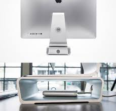 Thunderbolt Display Stand Extraordinary Elevation Stand A Stunning SpaceSaving Desk Stand For IMac