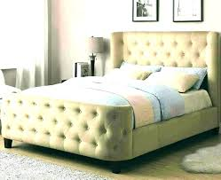Grey Tufted Headboard And Frame Block Chisel Grey Upholstered Button ...