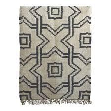 tell me more scandinavian ethnic rug in wool jute 140x200cm tell me more