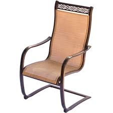 outdoor sling chairs. Large Size Of Chair Sling Monaco Piece Bistro Set With Spring Chairs And In Glass Top Outdoor