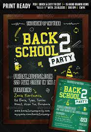 Back To School Invitation Template Back 2 School Party Flyer Wanderingfolks Graphicriver Back To School